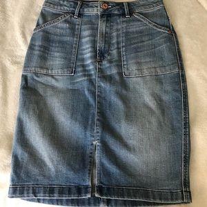 Abercrombie& Fitch Midi Denim Skirt size 4